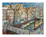 Amsterdam Canal Giclee Print by Joan de Bot