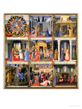 Scenes from the Nativity, Panel One from Silver Treasury of Santissima Annunziata, circa 1450-53 Giclee Print by  Fra Angelico