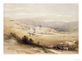 "Nazareth, April 28th 1839, Plate 28 from Volume I of ""The Holy Land"", Pub. 1842 Giclee Print by David Roberts"