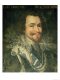 Portrait of George Villiers, 1st Duke of Buckingham Giclee Print by Jean Mosnier