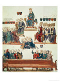 The Trial of Robert D'Artois, Count of Beaumont, Presided Over by Philip VI in 1331 Giclee Print by Nicolas Claude Fabri De Peiresc