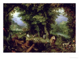 Earth or the Earthly Paradise, 1607-08 Giclee Print by Jan Brueghel the Elder
