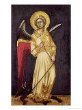 An Angel with a Demon on a Chain Giclee Print by Ridolfo di Arpo Guariento