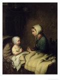 Little Girl Saying Her Prayers in Bed Impression giclée par Johann Georg Meyer von Bremen
