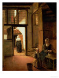 Interior of a Dutch House Giclee Print by Pieter de Hooch