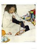 Opening the Christmas Stocking, 1902 Reproduction procédé giclée par Jessie Willcox-Smith