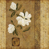 Magnolia Stripe I Prints by Gene Ouimette