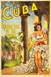 Cuba, Holiday Isle of the Tropics Poster