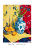 Irises in an Oriental Vase II Posters by Curtis Kelly