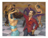 Smooth Salsa Giclee Print by Alla Bespalov