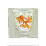 Whimsical Goldfish IV Prints by Zoe Beresford