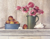 Poppies, Peaches and Shells Prints by T. C. Chiu