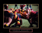 Effort de groupe - Rugby Poster
