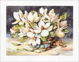 Old Tyme Magnolias Prints by Jerianne Van Dijk