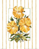 Striped Botanical Pansy Prints by Jerianne Van Dijk