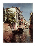 Venetian Gondola Art by Rubens Santoro