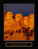 Leaders - Mont Rushmore Affiches
