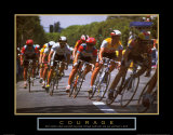 Courage: Making a Turn Bicycle Race Poster