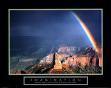 Imagination - Mountain  With Rainbow Pósters
