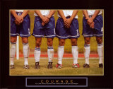 Courage: Soccer Players Kunstdrucke