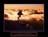 Challenge - Skier in Clouds Kunstdrucke