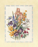 Tulips and Iris Print by T. C. Chiu