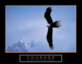 Courage: Bald Eagle Posters