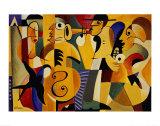 Jazz, panneau 1 Posters par John Hillmer