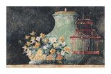 Still Life with Red Birdcage Poster by C. C. Wilson