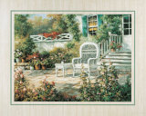 Patio Garden II Prints by T. C. Chiu