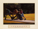 Teamwork: Family of Skaters Posters