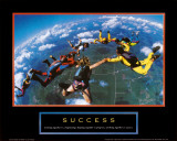 Success: Skydivers Kunstdrucke