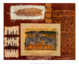 Hemingway on Safari, Zebra Prints by Ann Walker
