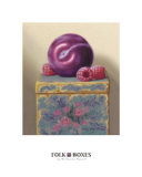 Folk Box, Plum Prints by W. Charles Nowell