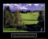 Détermination - Golf Affiche