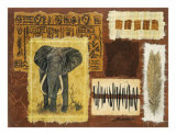 Hemingway on Safari, Elephant Art by Ann Walker