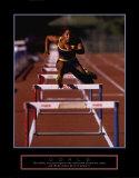 Goals: Runner Jumping Hurdles Poster