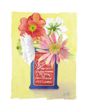 Flowers in a Red and Blue Can Posters by Robbin Gourley