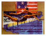 Olympic Swimmers Schilderijen van Michael Dudash