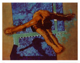 Olympic Diver Art by Michael C. Dudash