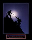 Trabajo en equipo: escaladores Pósters