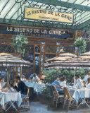 Le Bistro de la Gare Poster by Rosemary Lowndes