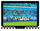 Risk: Auto Racing Poster by Richard M. Swiatlowski