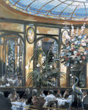 Restaurant View Print by Rosemary Lowndes