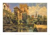 Jardines del Alcazar de Sevilla Prints by Manuel Garcia Y Rodriguez
