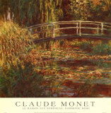 Water Lily Pond, Harmonie Rose Prints by Claude Monet