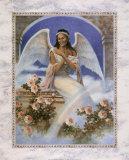 Schwarzer Engel mit Regenbogen Kunstdrucke von T. C. Chiu