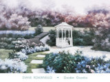 Garden Gazebo Poster by Diane Romanello