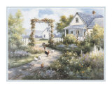 Country Home with Front Garden Poster by T. C. Chiu