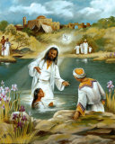 Baptism at River's Edge Poster af  Lopez
